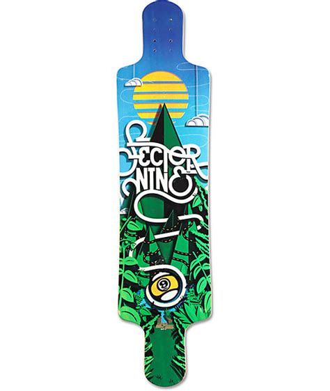 sector 9 faultline 39 5 quot drop longboard deck at