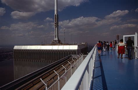 2 world trade center south tower observation deck with an anti fence