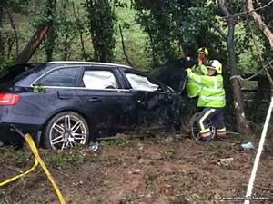 Car crashes into ditch near St Mewan following heavy rain ...