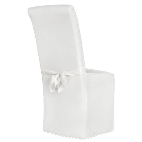 housse de chaise blanche jet 233 universel habillage chaise mariage bapt 234 me nœud ebay