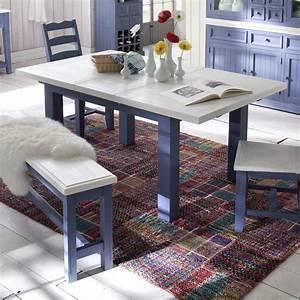 Tisch Weiß Ausziehbar : tisch falun esstisch ausziehbar kiefer in brilliant blau und wei 180 220 cm ebay ~ Markanthonyermac.com Haus und Dekorationen
