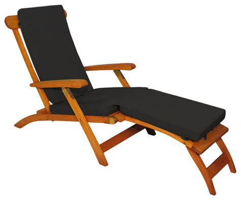 shop houzz goldenteak teak steamer chair chaise lounge with sunbrella cushion outdoor chaise