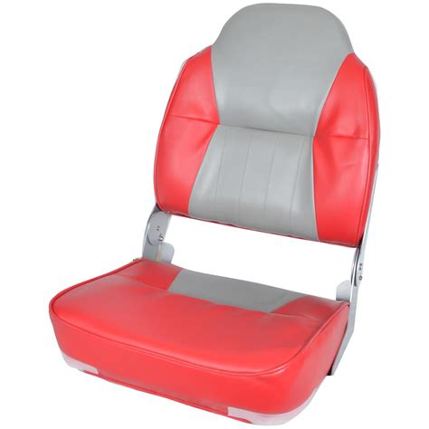 Red Fishing Boat Seats by Deluxe Two Tone High Back Fishing Boat Seat 640170 Fold