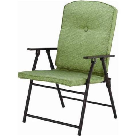 Lawn Seating At Walmart by Mainstays Outdoor Padded Folding Chairs Set Of 2