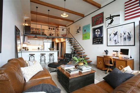 Small Loft Apartment Living Room Industrial With High Home Exterior Pictures Theater Cabinet Designs Color Palettes Improvement Kitchen Cabinets Elevations Of Homes Tiny Bathroom Quality Exteriors Design Your