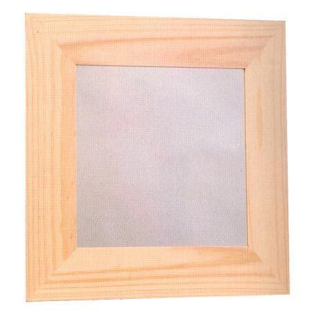 support 224 d 233 corer en bois cadre bois plat plexi 38 x 38 cm