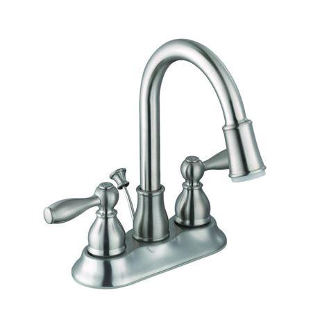 glacier bay mandouri 4 in centerset 2 handle led high arc bathroom faucet in brushed nickel