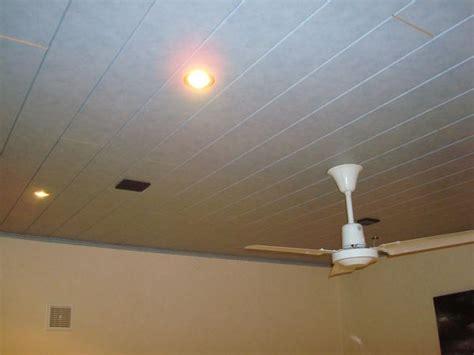 lambris pvc au plafond sur platre