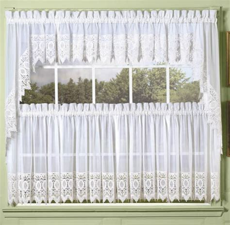 white diana macrame lace tailored curtain altmeyer s bedbathhome