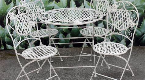 salon de jardin en fer forg 233 1 table et 4 chaises