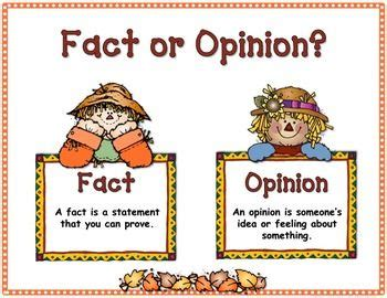 Fall Fact Or Opinion Freebie  Here Is A Great Addition To Your Fall Literacy Workstations! This