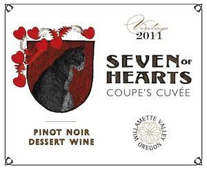 seven of hearts 2011 coupe s cuvee pinot noir dessert wine great northwest wine