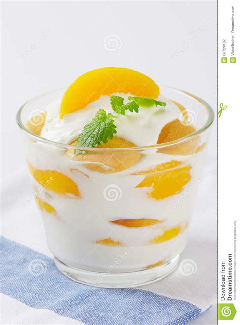 creme fraiche dessert stock photo image 68729182