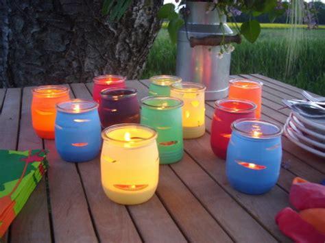 cr 233 er des photophores en couleur avec des pots de yaourts d 233 cod 233 brouille