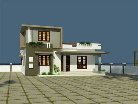 2 Bhk Home Interior Design Low Budget : 2 Bhk Low Budget Modern Home Design At 1350 Sq Ft