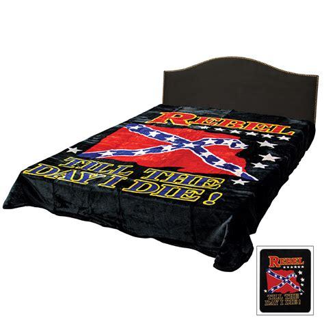 rebel flag till the day i die faux fur size blanket