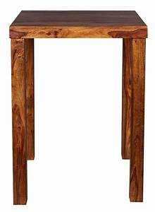 Bartisch Mit Stühlen Günstig : finebuy bartisch massivholz sheesham 80 x 80 x 110 cm bistro tisch landhaus stil holztisch ~ Markanthonyermac.com Haus und Dekorationen