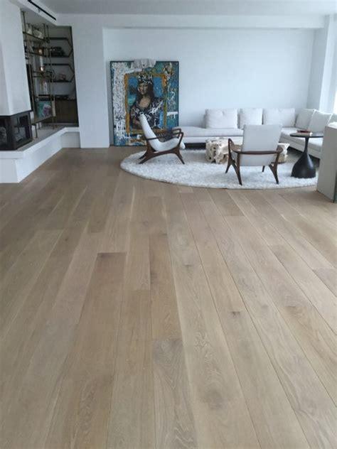 random width white oak bona naturale finish