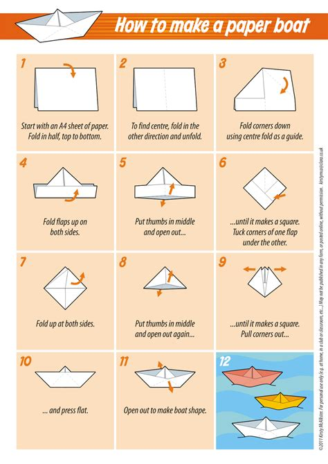 How To Make A Paper Boat Step By Step With Pictures by Miscellany Of Randomness Free Downloads