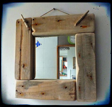 mutoz inc en bois flott 233 miroir avec cadre en bois flott 233 d 233 coration esprit upcycling