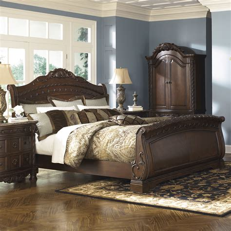 signature design by shore sleigh bed reviews wayfair