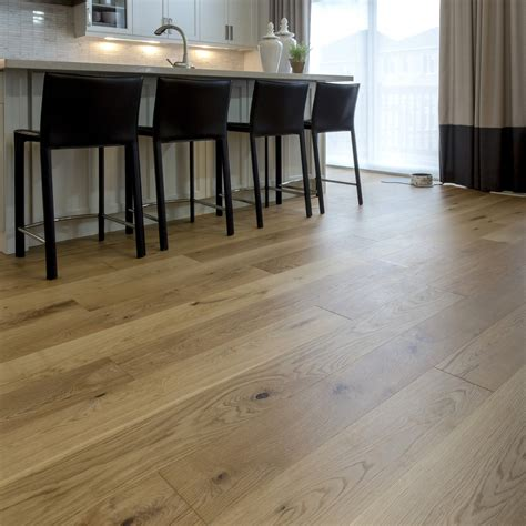 Smooth, White Oak Natural  Vintage Hardwood Flooring, And