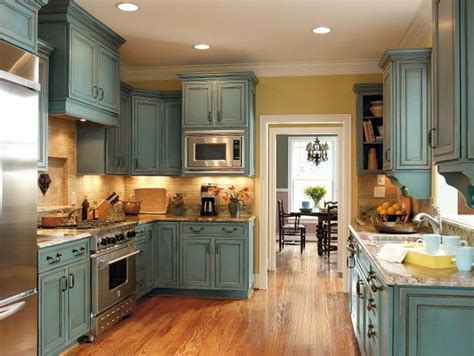 10 best ideas about teal kitchen cabinets on