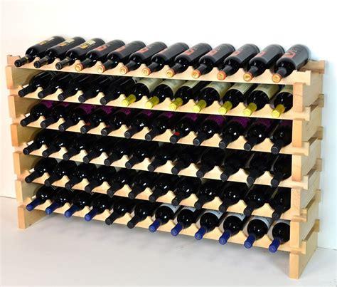 Modular Wine Rack 72 Bottles 6 Rows 12 Bottles Across