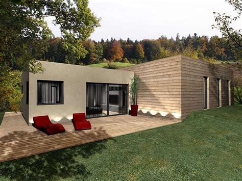 maison bois 224 toit plat toit terrasse