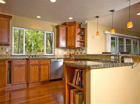 color ideas for kitchen walls with wood cabinet for country style paint color home design