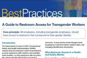 osha trans workers should access to restroom that corresponds to gender identity on top