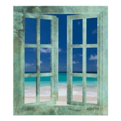 trompe l oeil window miniature printables window poster window and beaches