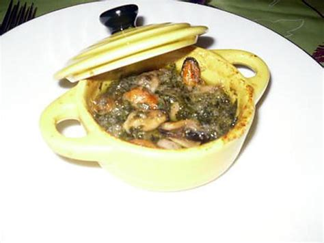 recette de mini cocotte de moules au beurre d escargot maison