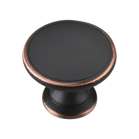 dresser hardware knobs home depot richelieu hardware 1 3 4 in brushed rubbed bronze