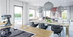 Küche Mit Wohnzimmer : wohnideen offene k che mit esstisch und wohnzimmer haus concept m 167 bien zenker ~ Markanthonyermac.com Haus und Dekorationen