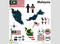 Map Of Malaysia Royalty Free Stock Photography Image