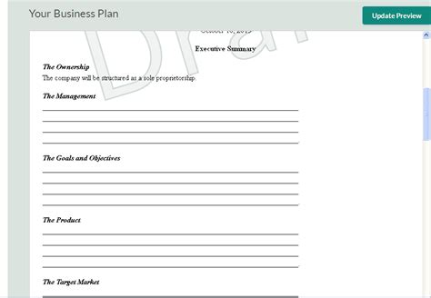 10 Free Business Plan Templates For Startups