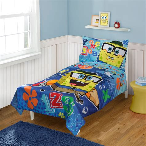spongebob squarepants toddler bedding set school 123