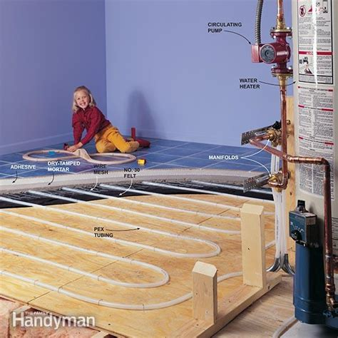 how hydronic radiant floor heating works the family handyman