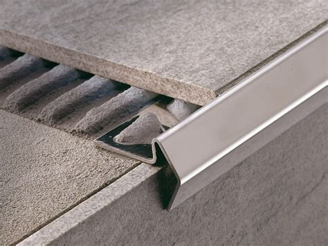 decorative stair nosing in aluminium or brass stairtec fl