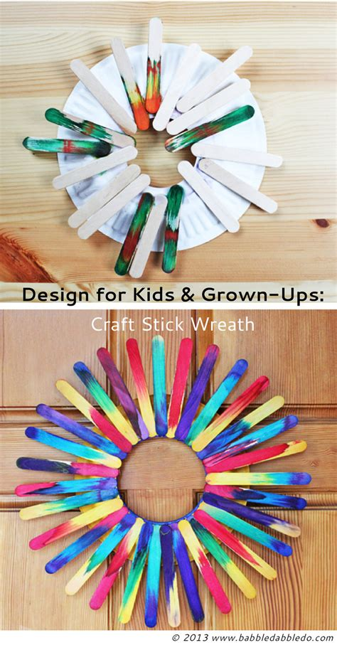 Craft Stick Wreath  Babble Dabble Do