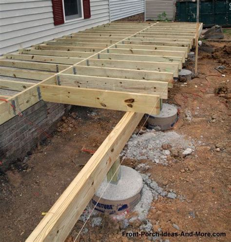 25 best ideas about deck footings on concrete