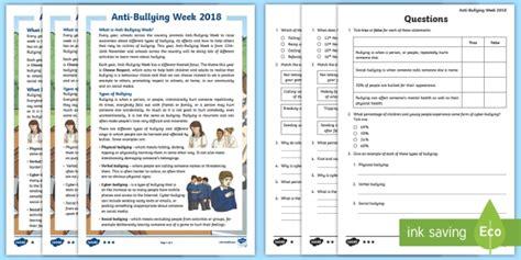 * New * Uks2 Antibullying Week Differentiated Reading