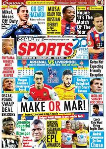 Read Complete Sport Newspaper For Free...updated Daily ...