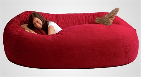 The Fuf Memory Foam Oversized Beanbag Chair