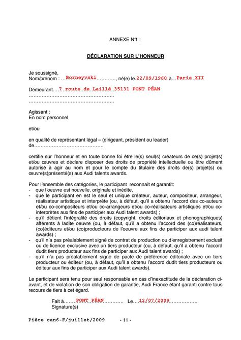 doc reponse a une candidature