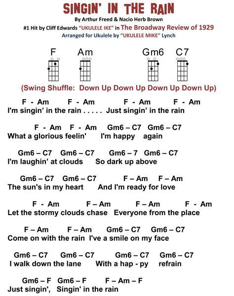 Row Row Row Your Boat Chinese Lyrics by Singin In The Rain A Seattle Kinda Song Ukulele