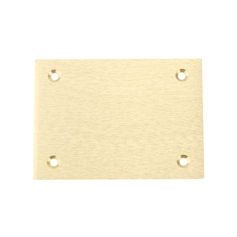 hubbell s3813 brass floor box rectangle blank cover