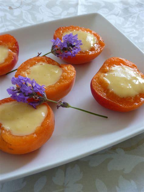 abricots farcis cr 232 me dessert des 238 les un deux trois