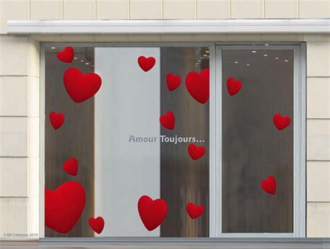 kit vitrine valentin stickers pour la d 233 coration de vitrines de magasins ek d 233 coration